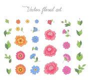 Simple flowers set Royalty Free Stock Photos