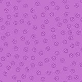 Simple flowers. violet baby background. vector seamless pattern stock illustration