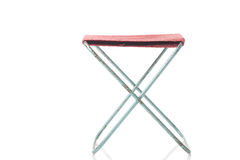 Simple folding canvas stool on white Royalty Free Stock Photography