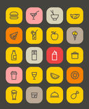 Simple foob icons collection isolated on white Royalty Free Stock Image