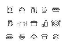 Simple food icon, vector Royalty Free Stock Photos