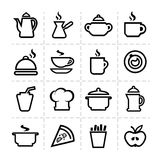Simple food icons Royalty Free Stock Photography