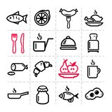 Simple food icons set Stock Image
