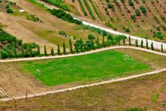 Simple Football Pitch Royalty Free Stock Image
