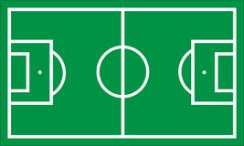 Simple Football/Soccer field. Green Simple Soccer field or Football Field Vector image background Stock Photo