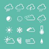Simple forecast  weather icons Stock Photo