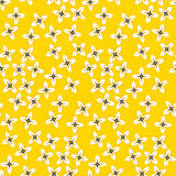 Simple four petal flowers seamless pattern. Royalty Free Stock Photo