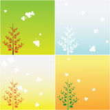 Simple four seasons tree vector Royalty Free Stock Photography