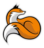 Simple fox. Vector of simple style of fox Stock Image