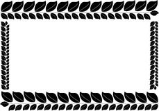 A simple frame in the form of black leaves Royalty Free Stock Image
