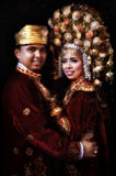 Simple frame. Traditional wedding clothes custom west sumatra Royalty Free Stock Photography
