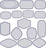 Simple frames. Set of simple frames -  illustration Royalty Free Stock Image