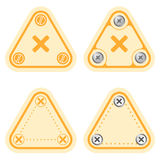 Simple frames. Set of four flat simple frames and the symbol of multiplication Royalty Free Stock Images
