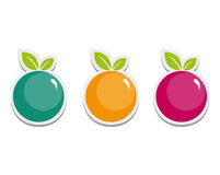 Simple Fruits stock illustration