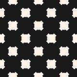 Simple funky style vector seamless pattern with square crosses Stock Photo