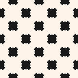 Simple funky style vector seamless pattern with square crosses Stock Photos