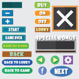 Simple game buttons Stock Photography
