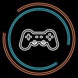 Simple Game Controller Thin Line Vector Icon stock illustration