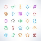 Simple game icons Stock Image