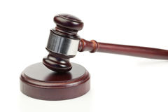 Simple gavel in action Royalty Free Stock Photo
