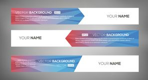 Simple geometric banners 06 stock illustration