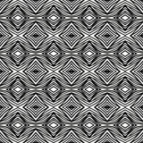 Simple geometric black and white pattern Royalty Free Stock Photography