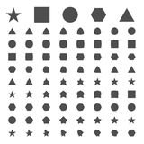 Simple geometric figures of metamorphosis Stock Photos