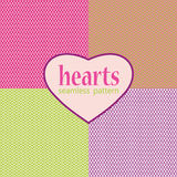 Simple geometric hearts seamless pattern Royalty Free Stock Photo