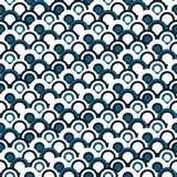 Simple geometric Japanese seamless pattern. Traditional. Background to copy without any seams.Vector sea waves endless texture can Stock Photos