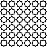 A simple geometric pattern. Black and white. Arabic style. Royalty Free Stock Image