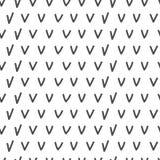 Simple geometric pattern. Hand drawn seamless background. Stock Photos
