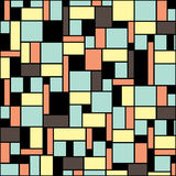 Simple geometric seamless pattern in retro colors. Vector background Royalty Free Stock Images