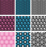Simple geometric seamless patterns Royalty Free Stock Image