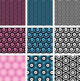 Simple geometric seamless patterns Royalty Free Stock Image
