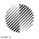 Simple Geometric Shape. Abstract Simple Geometric Shape Minimal Object Pattern In Black and White Color Royalty Free Stock Image