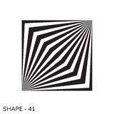 Simple Geometric Shape. Abstract Simple Geometric Shape Minimal Object Pattern In Black and White Color Stock Images
