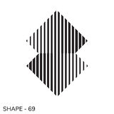 Simple Geometric Shape. Abstract Simple Geometric Shape Minimal Object Pattern In Black and White Color Stock Photo