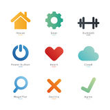Simple geometric shapes. Royalty Free Stock Photos