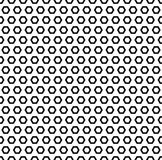 Simple geometric texture, black hexagonal shapes royalty free illustration
