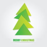 The simple geometric triangle form Christmas tree Royalty Free Stock Photography
