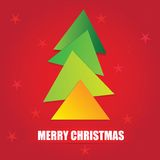 The simple geometric triangle form Christmas tree Royalty Free Stock Photo