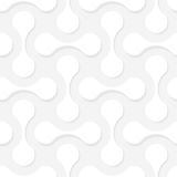 Simple geometric vector pattern. White figures with shadows on l Royalty Free Stock Image