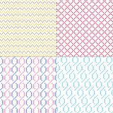 Simple geometric vector patterns. Four simple geometric vector patterns royalty free illustration