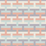 Simple geometric vector seamless color pattern - multicolor figu Royalty Free Stock Photos
