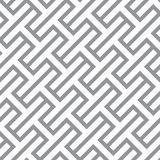 Simple geometric vector seamless monochrome pattern - gray figur Royalty Free Stock Photos