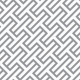 Simple geometric vector seamless monochrome pattern - gray figur Royalty Free Stock Photos