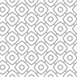 Simple geometric vector seamless pattern - gray contour figures Stock Photography