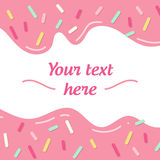 Simple geometrical picture with text sample small lines and shadows. Graphic lines. Donut cream Stock Image