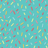 Simple geometrical seamless pattern with small lines and shadows. Graphic lines texture. Donut cream Stock Photography