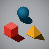 Simple geometrical shapes Royalty Free Stock Images